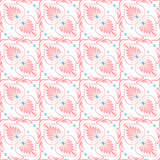 Vector set seamless floral ornament Stock Photo