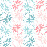 Vector set seamless floral ornament Stock Images