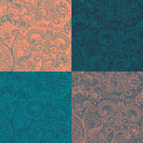 Vector set seamless floral pattern Royalty Free Stock Image