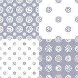 Vector set of seamless gear patterns. Stock Images