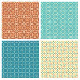 Vector set of seamless geometric patterns. Stock Images