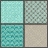 Vector set of seamless geometric patterns. Royalty Free Stock Photography