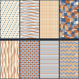 Vector Set of Seamless Geometric Patterns. Stock Photography