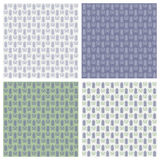 Vector set of seamless lavender patterns. Floral pattern with Lavender for packing. Vector illustration bundle Royalty Free Stock Photography