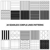 Vector set of seamless lines patterns Stock Photo
