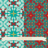 Vector set of 2 seamless mosaic patterns. EPS 10 Stock Illustration
