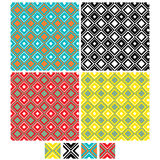 Vector set of Seamless Pattern Royalty Free Stock Images