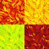 Vector set of seamless pattern with autumn leaves royalty free illustration