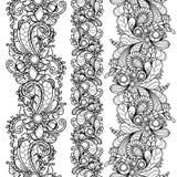 Vector set seamless pattern borders Royalty Free Stock Photo