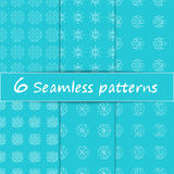 Vector set seamless pattern with snowflakes. Minimalist Royalty Free Stock Photos