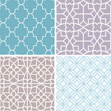Vector set of seamless patterns and abstract backgrounds Royalty Free Stock Photo