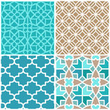 Vector set of seamless patterns Royalty Free Stock Image