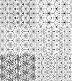 Vector set of seamless patterns stock images