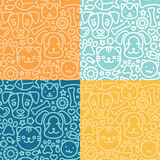Vector set of seamless patterns royalty free illustration