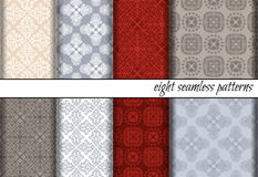 Vector set of seamless patterns Stock Photography