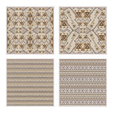 Vector set of seamless patterns. Ethnic tribal geometric texture Stock Images
