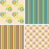 Vector set of seamless patterns Royalty Free Stock Images
