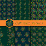Vector set of seamless patterns with floral elements Stock Photos