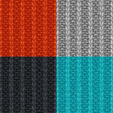 Vector set of seamless patterns in knitting style. Royalty Free Stock Photography