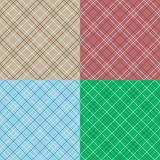 Vector set of seamless patterns of textile. Royalty Free Stock Image