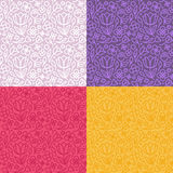 Vector set of seamless patterns in trendy linear style Royalty Free Stock Photography