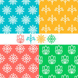 Vector set of seamless patterns. Stock Images
