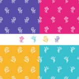 Vector set of seamless patterns. Royalty Free Stock Image