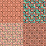Vector set seamless pink geometric pattern Stock Images