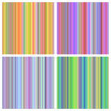 Vector set of seamless rainbow patterns Royalty Free Stock Images