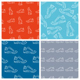 Vector set of seamless shoes patterns. Stock Photos