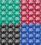 Vector set of seamless texture of colored gems. Vector set of seamless texture colored gems stock illustration