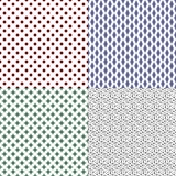 Vector set of seamless textures Stock Images