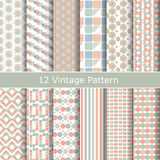Vector set of seamless vintage patterns. Stock Photos