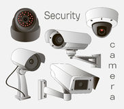 Vector set of security camera Stock Image