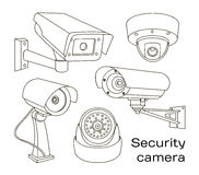 Vector set of security camera Stock Photography