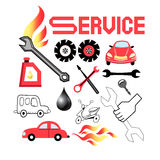 Vector set of service cars Stock Photography