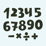 Vector set of shaded numbers Royalty Free Stock Photography
