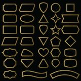 Vector Set Shapes And Borders For Message In Outline. Royalty Free Stock Photos