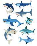 Vector set of sharks Royalty Free Stock Photo