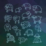 Vector set of sheeps Royalty Free Stock Photos