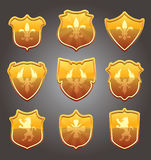 Vector set of shields Royalty Free Stock Image