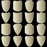 Vector set of shields... Royalty Free Stock Photography