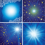 Vector set of shining backgrounds royalty free illustration