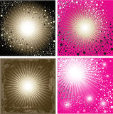 Vector set of shining backgrounds Stock Image