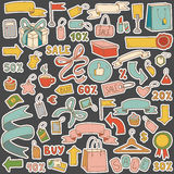 Vector set of shopping items Stock Photography