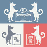 Vector set sign dog Royalty Free Stock Photo