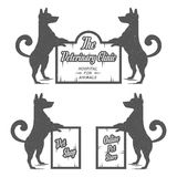 Vector set sign dog Royalty Free Stock Photos