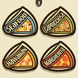 Vector Set Signs For Italian Pizza