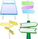 Vector set of signs and signpo Stock Photos