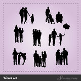 Vector set - Silhouette Family Royalty Free Stock Photos